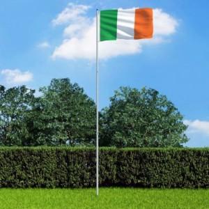 Ír zászló alumíniumrúddal 6 m