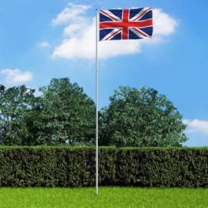 Brit zászló alumíniumrúddal...