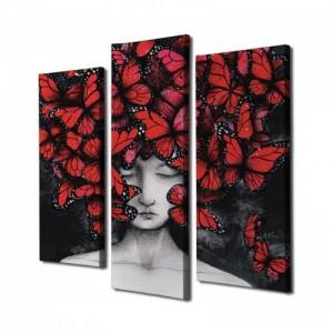 Vászon dekor falikép 3 darab 66 x 45 cm
