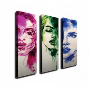 Vászon dekor falikép 3 darab 66 x 70 cm