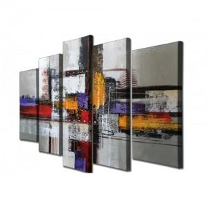 Dekoratív vászonfestmény 5 darab 105 x 70 cm