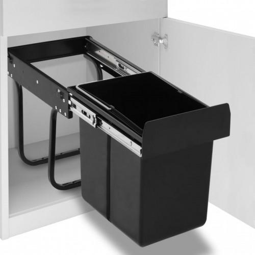 Lágyan csukódó újrahasznosított kihúzható konyhai szemetes 20 l