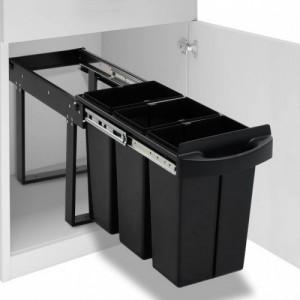 Lágyan csukódó újrahasznosított kihúzható konyhai szemetes 36 l