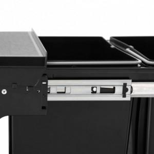 Lágyan csukódó újrahasznosított kihúzható konyhai szemetes 48 l