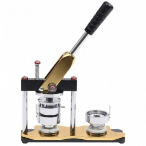 Kitűzőkészítő gép körvágóval forgó lyukasztóval 44 mm