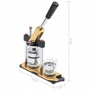 Kitűzőkészítő gép körvágóval forgó lyukasztóval 37 mm