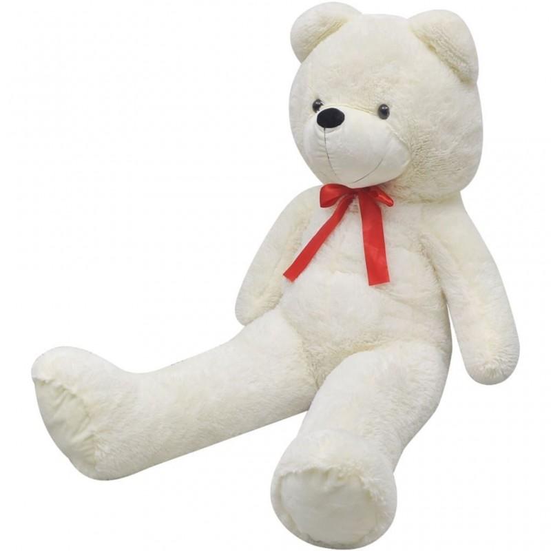 XXL fehér puha plüss játékmackó 135 cm