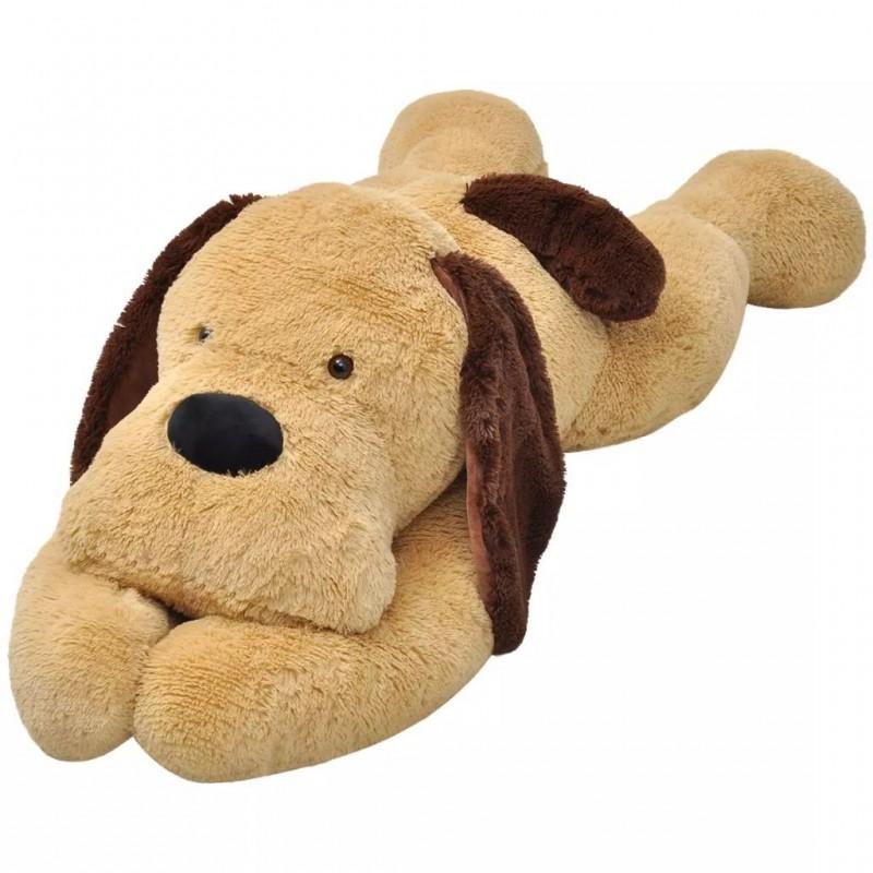 Ölelni való barna plüss kutya 120 cm