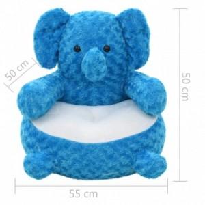 Kék elefánt plüssjáték