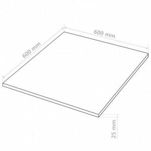 4 db négyzet alakú MDF-lap 60x60 cm 25 mm