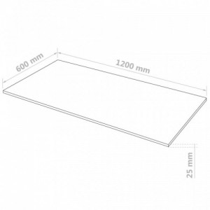 2 db téglalap alakú MDF-lap 120x60 cm 25 mm