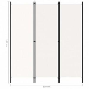 Krémfehér 3 paneles paraván 150 x 180 cm