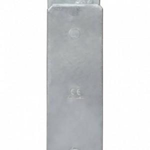 6 db ezüstszínű horganyzott acél kerítéshorgony 9 x 6 x 60 cm