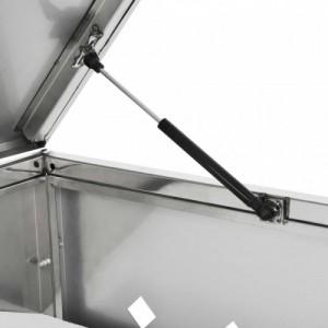 Rozsdamentes acél tároló két gurítható szemeteskukához 240 L