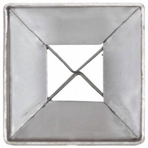 6 db ezüstszínű horganyzott acél kerítéstüske 7 x 7 x 75 cm
