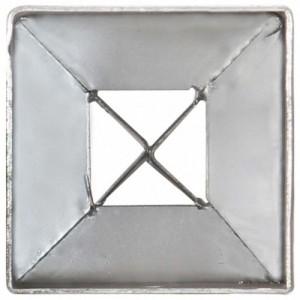 12 db ezüstszínű horganyzott acél kerítéstüske 7 x 7 x 90 cm