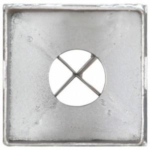 6 db ezüstszínű horganyzott acél kerítéstüske 8 x 8 x 76 cm