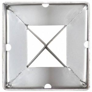 6 db ezüstszínű horganyzott acél kerítéstüske 9 x 9 x 75 cm