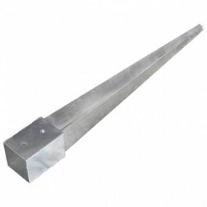 2 db ezüstszínű horganyzott acél kerítéstüske 10 x 10 x 91 cm