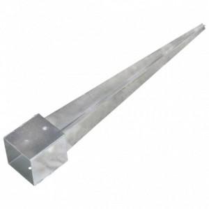 2 db ezüstszínű horganyzott acél kerítéstüske 12 x 12 x 89 cm
