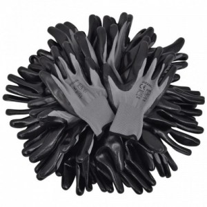 24 pár PU munkáskesztyű méret 9|L szürke és fekete