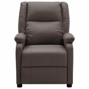 Barna műbőr dönthető fotel