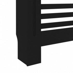Fekete MDF radiátorburkolat 152 x 19 x 81 cm