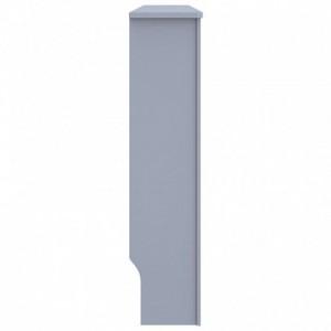 Antracitszürke MDF radiátorburkolat 152 x 19 x 81 cm
