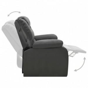 Szürke műbőr dönthető fotel