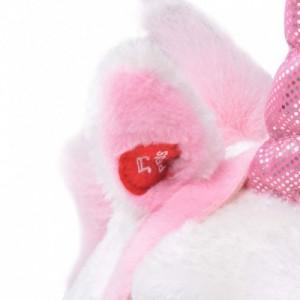Álló, fehér és pink plüss-egyszarvú XXL