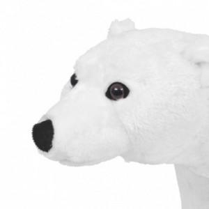 Álló, fehér plüssjegesmedve XXL