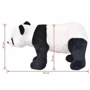 Álló, fekete és fehér plüsspanda XXL