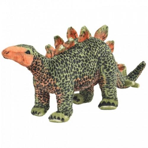 Álló, zöld és narancssárga plüss stegosaurus XXL