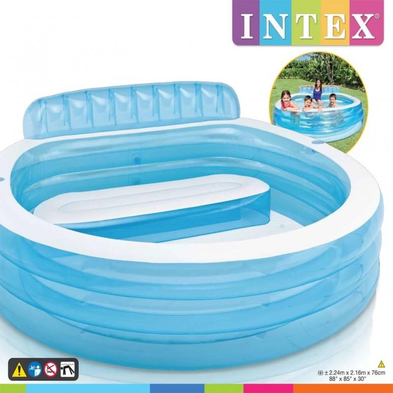Intex Swim Center Family Lounge Pool 57190NP felfújható medence. Vidd az  egeret a kép fölé 3952b95f7a