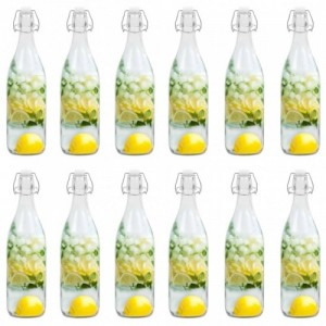 12 db csatos üvegpalack 1 L