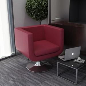 Bordó műbőr forgatható fotel