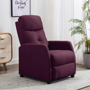 Lila szövet dönthető fotel