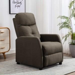 Tópszínű szövet dönthető fotel