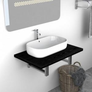 Fekete fürdőszobai bútor 60...
