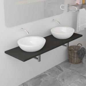 Szürke fürdőszobai bútor...