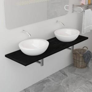 Fekete fürdőszobai bútor...