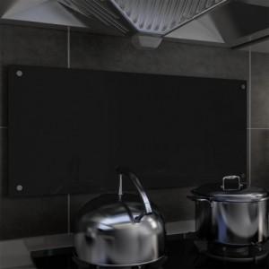 Fekete edzett üveg konyhai...